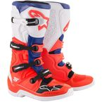 Blue/White/Fluorescent Red Tech 5 Boots - 2015015307213