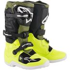 Fluorescent Yellow/Military Green/Black Tech 7S Youth Boots - 201501755615