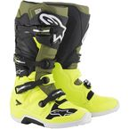 Fluorescent Yellow/Military Green/Black Tech 7 Boots - 2012014556110