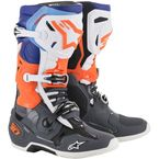 Gray/Fluorescent Orange/Blue Tech 10 Boots - 2010019-9047-9