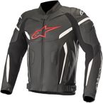 Black/Fluorescent Red GP Plus R v2 Leather Jacket - 3100517-1030-58