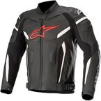 Black/Fluorescent Red GP Plus v2 Airflow Leather Jacket - 3100617-1030-58