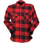 Black/Red The Duke Flannel Shirt - 3040-2816