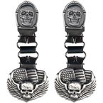 Winged Skull/Flag Ryder Clips - BUL1001