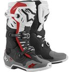 White/Mid Gray/Red Tech 10 Supervented Boots - 2010520-1213-10