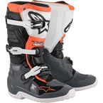 Youth Black/Grey/White/Orange Tech 7S Boots - 2015017-1124-5