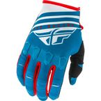 Youth Blue/White/Red Kinetic K220 Gloves - 373-51106