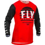 Youth Red/Black/White Kinetic K220 Jersey - 373-523YL