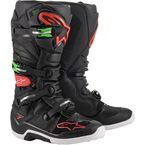 Black/Red/Green Tech 7 Boots - 2012014-1366-9