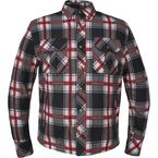 Men's Red/White/Black Aramid Fiber Riding Shirt - TW136.01L