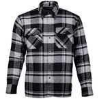 Storm Grey Bender Riding Flannel Shirt - 8103-0105-06