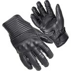 Black Bully Short Cuff Leather Gloves - 8360-0105-05