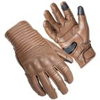 Brown Bully Short Cuff Leather Gloves - 8360-0114-06