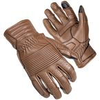 Brown Associate Mid-Length Cuff Leather Gloves - 8361-0114-06