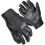 Black Slacker Short Cuff Leather Gloves - 8363-0105-06