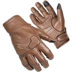 Brown Slacker Short Cuff Leather Gloves - 8363-0114-06