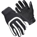 Black/White Brodie Moto Styled Gloves - 8364-0159-05