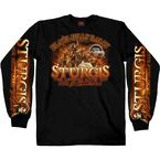 Black Sturgis Indian Storm Long Sleeve Shirt - SPM2526-L