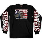 Black Sturgis King N Queen Long Sleeve Shirt - SPM2495-L
