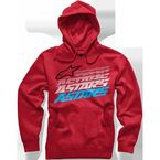 Red Hashed Hoody - 101652001030M