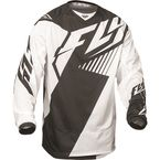 Black/White Kinetic Mesh Vector Jersey - 369-320L