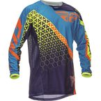 Youth Blue/Orange/Yellow Kinetic Trifecta Jersey - 369-421YL