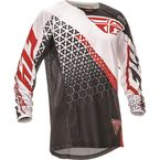 Black/White/Red Kinetic Trifecta Jersey - 369-424M