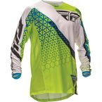 Lime/White Kinetic Trifecta Jersey - 369-425L