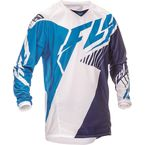 Youth Blue/White/Navy Kinetic Vector Jersey - 369-521YL