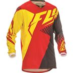 Red/Black/Yellow Kinetic Vector Jersey - 369-522L