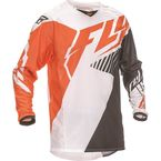 Youth Black/White/Flo Orange Kinetic Vector Jersey - 369-527YL