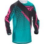 Teal/Pink/Black Kinetic Mesh Trifecta Jersey - 370-325X
