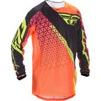 Flo Orange/Black Kinetic Mesh Trifecta Jersey - 370-327L