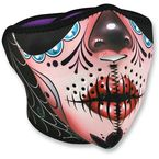 Sugar Skull Half Face Mask - WNFM082H