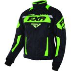 Black/Lime Octane Jacket - 170006-1070-13