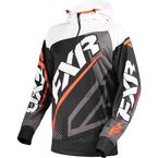 Black/Orange/White Race Tech 1/4 Zip Hoody - 170926-1030-10