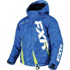 Child's Blue Digi/Hi-Vis Boost Jacket - 170410-4165-04
