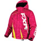 Youth Electric Pink Digi/Hi-Vis Boost Jacket - 170404-9765-10