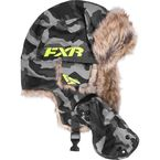 Gray Urban Camo/Hi-Vis Trapper Hat - 171614-0665-15