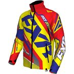 Hi-Vis/Nuke Red/Royal Blue Cold Cross Race Ready Jacket - 170029-6523-13