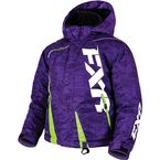 Child's Purple Digi/Lime Boost Jacket - 170410-8170-02
