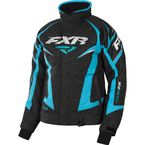 Women's Black Heather/Aqua Team Jacket - 170208-1150-20