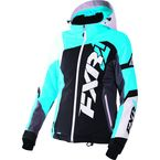 Women's Black/Aqua/White Tri Revo X Jacket - 170216-1050-10