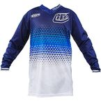 Youth White/Navy GP Air Starburst Jersey - 306013134