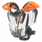 Youth Clear/Orange Vex Chest Protector - VEX-OR-S