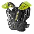 Youth Black/Hi Viz Yellow Vex Chest Protector - VEX-BKHV-S