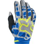 Women's Gray/Blue Dirtpaw Gloves - 17299-036-XL