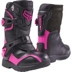 PeeWee Black/Pink Comp 5K Boots - 05014-285-13