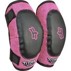 PeeWee Black/Pink Titan Elbow Guards - 08038-285-OS