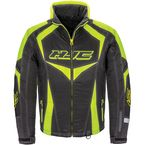 Black/Hi-Viz Neon Green Survivor Jacket - 1613-034